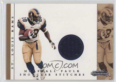 2001 Fleer Showcase - Showcase Stitches #MAFA - Marshall Faulk