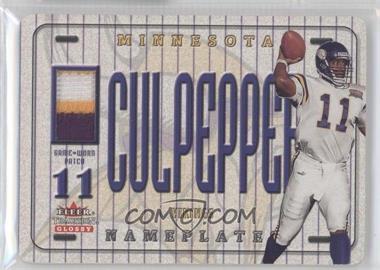 2001 Fleer Tradition Glossy - Nameplates #DACU - Daunte Culpepper
