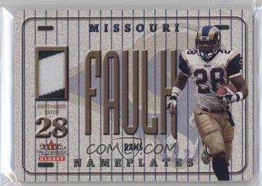 2001 Fleer Tradition Glossy - Nameplates #MAFA - Marshall Faulk
