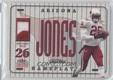 2001 Fleer Tradition Glossy - Nameplates #THJO - Thomas Jones