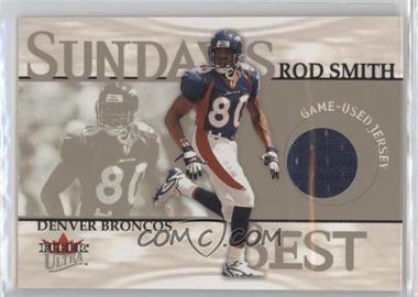 2001 Fleer Ultra - Sunday Best #ROSM - Rod Smith