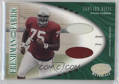 2001 Leaf Certified Materials - [Base] #142 - Leonard Davis /400