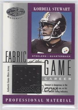 2001 Leaf Certified Materials - Fabric of the Game - Career #FG-131 - Kordell Stewart /357