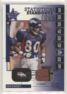 2001 Leaf Rookies & Stars - Statistical Standouts #SS-16 - Rod Smith