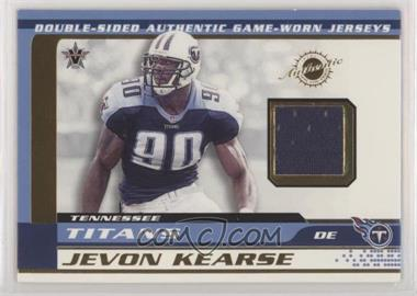 2001 Pacific Vanguard - Double-Sided Jerseys #12 - Jevon Kearse, Reggie White