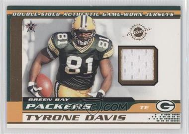 2001 Pacific Vanguard - Double-Sided Jerseys #35 - Bubba Franks, Tyrone Davis