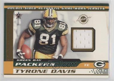 2001 Pacific Vanguard - Double-Sided Jerseys #35 - Bubba Franks, Tyrone Davis