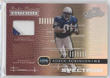 2001 Playoff Absolute Memorabilia - [Base] - Spectrum #171 - Koren Robinson /25