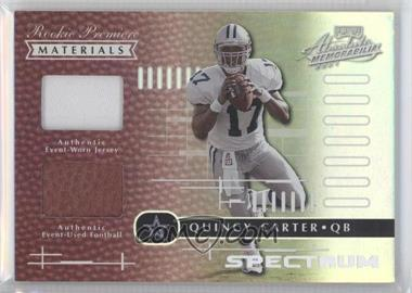 2001 Playoff Absolute Memorabilia - [Base] - Spectrum #185 - Quincy Carter /25