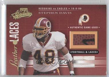2001 Playoff Absolute Memorabilia - Leather & Laces - Combos #LL10 - Stephen Davis /75