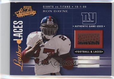 2001 Playoff Absolute Memorabilia - Leather & Laces - Combos #LL30 - Ron Dayne /50