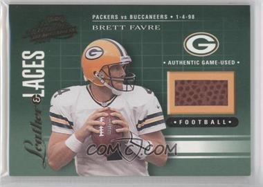 2001 Playoff Absolute Memorabilia - Leather & Laces #LL22 - Brett Favre /550