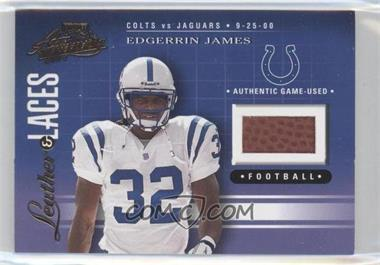 2001 Playoff Absolute Memorabilia - Leather & Laces #LL40 - Edgerrin James /275