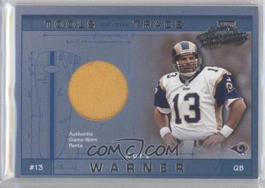 2001 Playoff Absolute Memorabilia - Tools of the Trade #TT-45 - Kurt Warner /100