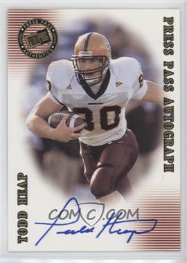 2001 Press Pass SE - Autographs #TOHE - Todd Heap