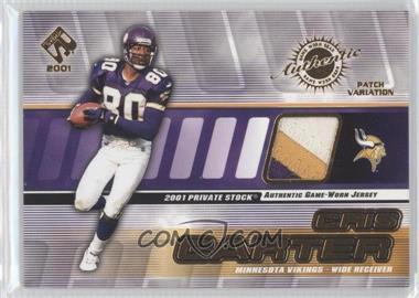 2001 Private Stock - Game-Worn Gear - Patch [Memorabilia] #89 - Cris Carter /225