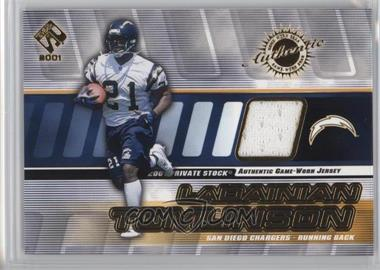 2001 Private Stock - Game-Worn Gear #126 - LaDainian Tomlinson