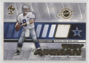 2001 Private Stock - Game-Worn Gear #40 - Troy Aikman