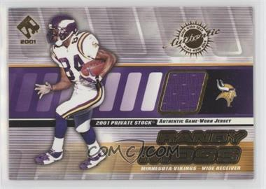 new product 02f9f 5ec5e 2001 Private Stock - Game-Worn Gear #91 - Randy Moss