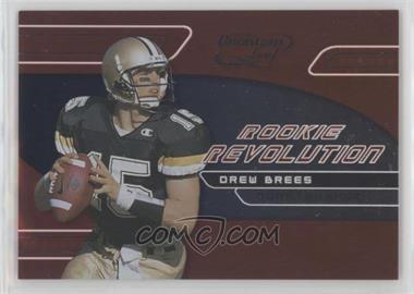 2001 Quantum Leaf - Rookie Revolution #RR-4 - Drew Brees /4000