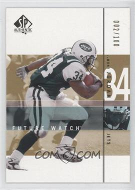 2001 SP Authentic - [Base] - Future Watch Rookies Gold #166 - LaMont Jordan /100