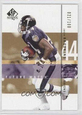 2001 SP Authentic - [Base] - Future Watch Rookies Gold #180 - Jason Brookins /100