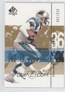 2001 SP Authentic - [Base] - Future Watch Rookies Gold #181 - Nick Goings /100