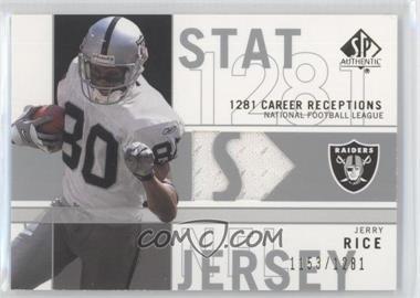 finest selection de897 d82c9 2001 SP Authentic - Stat Jerseys #SP-JR - Jerry Rice /1281