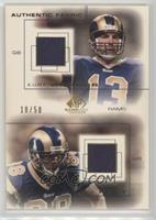 Kurt Warner, Torry Holt /50