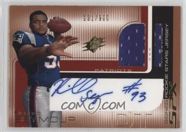 2001 SPx - [Base] #104 - Richard Seymour /900