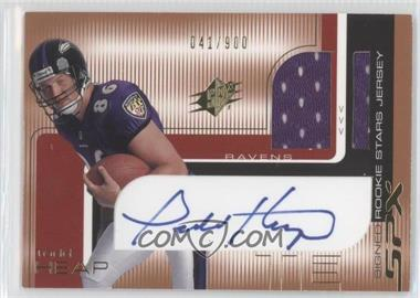 2001 SPx - [Base] #108.1 - Todd Heap (One Football) /900