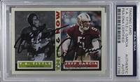 Y.A. Tittle, Jeff Garcia [PSA/DNA Certified Encased]