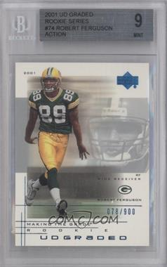2001 UD Graded - [Base] #74.1 - Robert Ferguson (action) /900 [BGS 9]