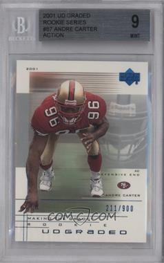 2001 UD Graded - [Base] #87.1 - Andre Carter /900 [BGS9]