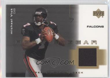 2001 Upper Deck Ovation - Rookie Gear #R-MV - Michael Vick