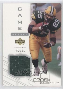 2001 Upper Deck Pros & Prospects - Game Jersey #DL-J - Dorsey Levens