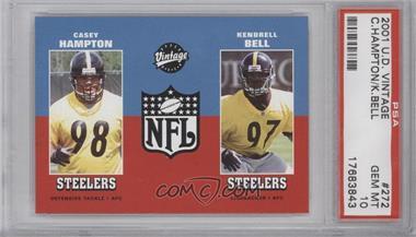 2001 Upper Deck Vintage - [Base] #272 - Casey Hampton, Kendrell Bell [PSA10]