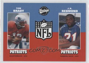 2001 Upper Deck Vintage Preview - [Base] #14 - Tom Brady, J.R. Redmond /1000