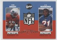 Tom Brady, J.R. Redmond #/1,000
