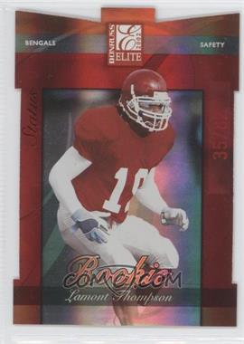 2002 Donruss Elite - [Base] - Status Die-Cut #184 - Lamont Thompson /82