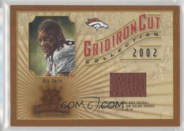 2002 Donruss Gridiron Kings - Gridiron Cut Collection #GC-97 - Rod Smith /550