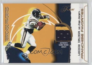 2002 Flair - Franchise Favorites - Jerseys [Memorabilia] #LATO - LaDainian Tomlinson