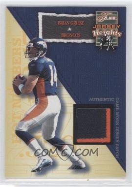 2002 Flair - Jersey Heights - Jersey Patch [Memorabilia] #BRGR - Brian Griese /100