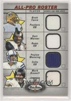 Brett Favre, Kurt Warner, Peyton Manning, Mark Brunell [EX to NM]