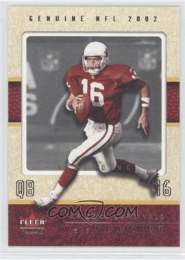 2002 Fleer Genuine - [Base] - Ascending #16 - Jake Plummer /16