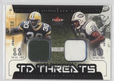 2002 Fleer Genuine - TD Threats - Jerseys [Memorabilia] #AGCM - Ahman Green, Curtis Martin