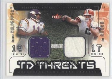 2002 Fleer Genuine - TD Threats - Jerseys [Memorabilia] #DCTC - Daunte Culpepper, Tim Couch