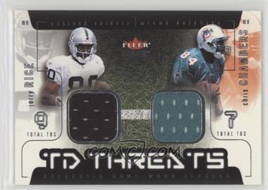 2002 Fleer Genuine - TD Threats - Jerseys [Memorabilia] #JRCC - Jerry Rice, Chris Chambers