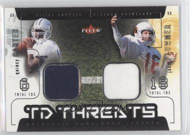 2002 Fleer Genuine - TD Threats - Jerseys [Memorabilia] #QCJP - Quincy Carter, Jake Plummer