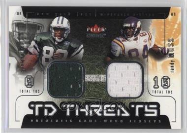 2002 Fleer Genuine - TD Threats - Jerseys [Memorabilia] #SMRM - Santana Moss, Randy Moss